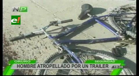 Oruro: Ciclista muere luego de ser atropellado por un camión