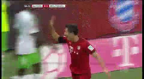Lewandowski logra un récord en la Bundesliga: Cinco goles en solo nueve minutos