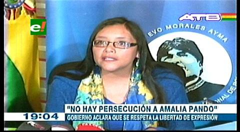 Gobierno demuestra que Amalia Pando percibió más de Bs 1 millón por programas en canal estatal
