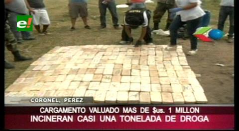 Santa Cruz: Felcn incineró más de 1.000 kilos de droga