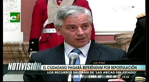 Referéndum de reelección de Evo será financiado con recursos del Estado