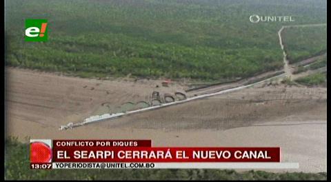 Santa Cruz: Searpi envió maquinaria a El Puente para revertir dique clandestino