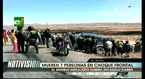 Siete personas mueren, entre ellos tres peruanos, por choque frontal