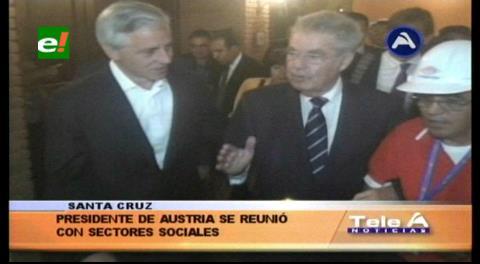 Presidente de Austria se reunió con organizaciones sociales