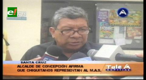 """Alcalde de Concepción: """"Los indígenas chiquitanos que hacen vigilia, son del MAS"""""""