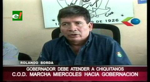 COD anuncia marcha en apoyo a chiquitanos movilizados en Santa Cruz