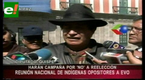 """Rafael Quispe: """"Nosotros los indios vamos a liderar la campaña por el No a Evo"""""""