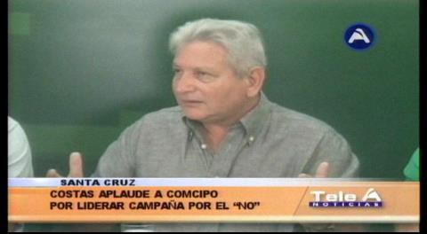 Costas aplaude a Comcipo por liderar la campaña por el NO a la reelección de Morales