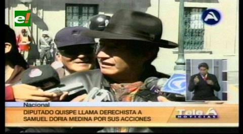 """UD dice que Rafael Quispe es propietario de lenocinios en El Alto, parlamentario califica de """"derechista"""" a Samuel"""