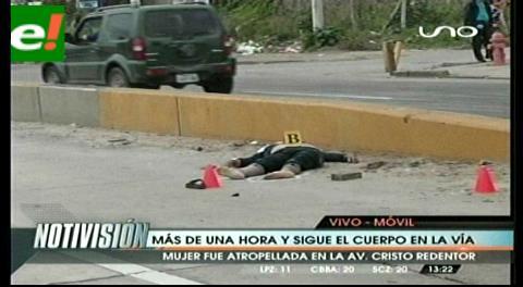 Mujer muere atropellada cuando intentaba cruzar el viaducto del cuarto anillo