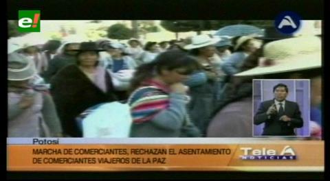 Potosí: Gremialistas marchan contra los asentamientos ilegales