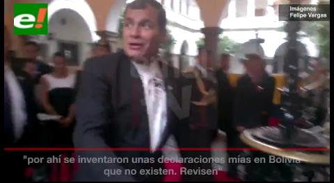 Correa deja mal parado a Evo; dice que en Bolivia 'inventaron' sus dichos sobre el tema marítimo
