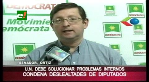 Senador Ortiz critica las deslealtades de algunos diputados opositores
