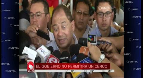 Ministro de Gobierno advierte que no permitirá bloqueos en Santa Cruz