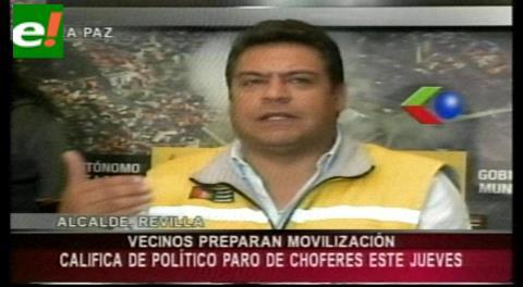 Alcaldía de La Paz afirma que paro de choferes no logrará el aumento de tarifas