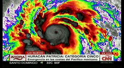 México en alerta: el huracán Patricia ya es el más fuerte de la historia en el Pacífico