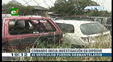 Investigan robo de piezas en Diprove Santa Cruz