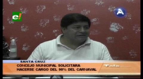 Concejo Municipal solicitará el 90% de la organización del Carnaval cruceño