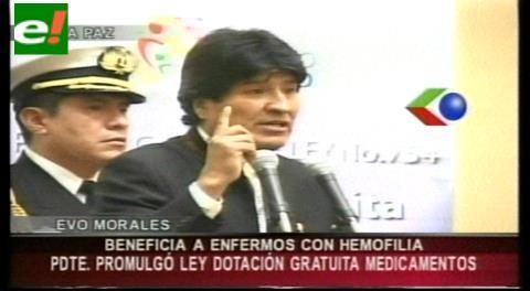Gobierno promulga Ley para dotar medicamentos a enfermos con hemofilia