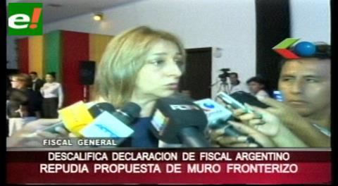 Descalifican propuesta de fiscal argentino de levantar un muro entre Bolivia y ese país