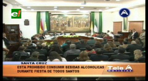 Santa Cruz: Aprueban Ley de Todos Santos que prohíbe expendio y consumo de bebidas alcohólicas