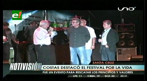 Rubén Costas destacó la fe de los cruceños en el Festival por la Vida