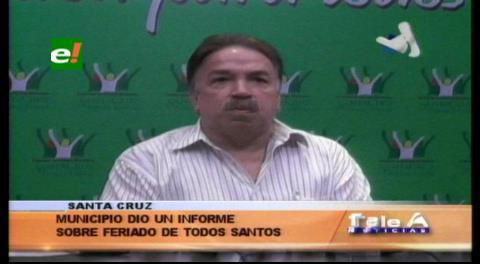 Municipio cruceño dio un informe sobre el feriado de Todos Santos