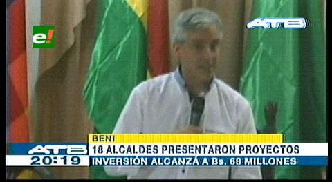 García Linera recibe proyectos de 18 municipios del Beni por Bs 68 millones