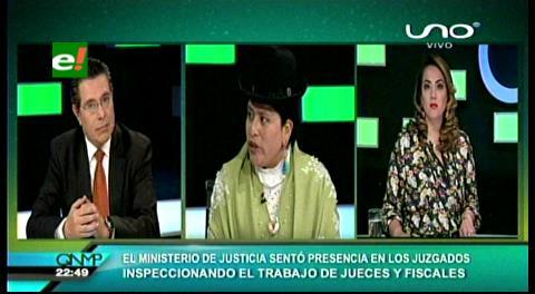 Ministra de Justicia revela graves deficiencias en los juzgados del país