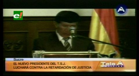 Nuevo Presidente del TSJ: Pastor Mamani promete luchar contra la retardación de Justicia