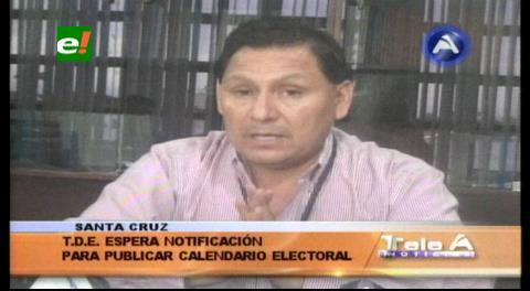 Referéndum: TED de Santa Cruz espera notificación para publicar el calendario electoral