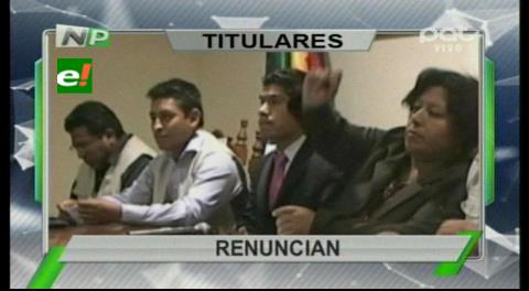 Titulares de TV: Dos vocales del TED de Chuquisaca renunciaron