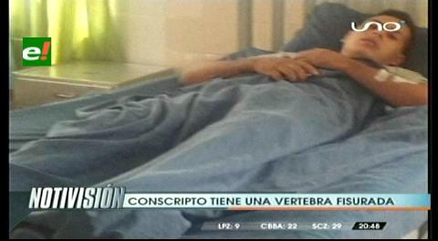 Conscripto sufre daños en la cadera por realizar ejercicios