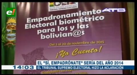 TSE presenta propaganda electoral para el empadronamiento biométrico