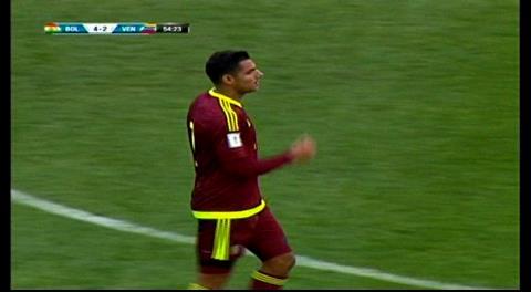Bolivia 4-2 Venezuela: Gol del venezolano Blanco