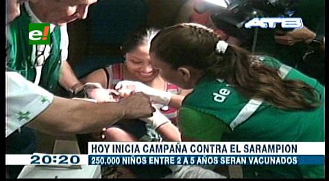 Contra el Sarampión: Esperan vacunar a 250 mil niños menores de 5 años