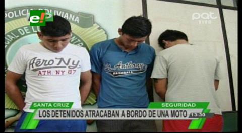 Los Lotes: Dos asaltantes en moto son enviados a Palmasola