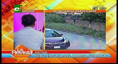 Imágenes muestran el robo de una casa en Santa Cruz