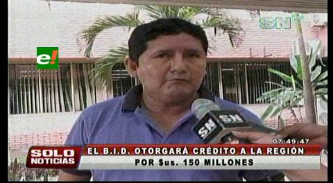Gobernación cruceña aprobó un préstamo de 350 millones de dólares