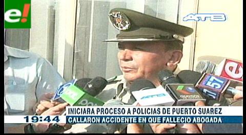 Procesarán a policías de Puerto Suárez por no informar sobre el accidente del fiscal Huayhua