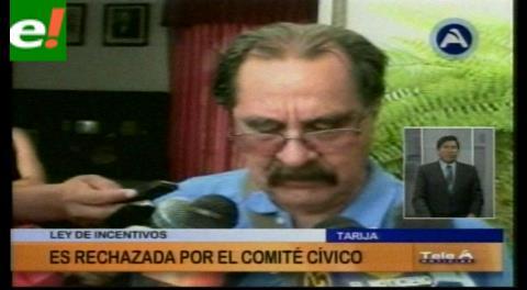 Cívicos de Tarija rechazan proyecto sobre incentivos petroleros del Gobierno
