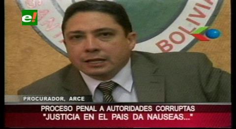 """Procurador Arce: """"La Justicia en el país da náuseas"""""""