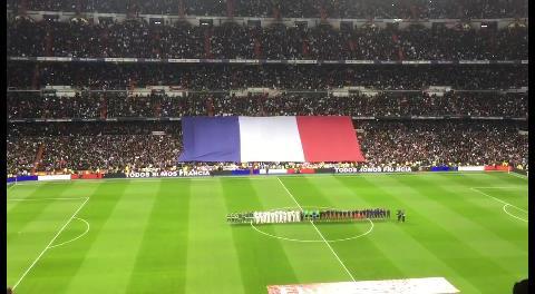 Real Madrid vs Barcelona: Minuto de silencio por las víctimas de Francia