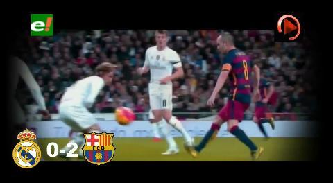 Real Madrid 0-2 Barcelona : Resultado parcial