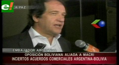 Embajador Basteiro cree que relaciones de Bolivia y Argentina se complicarán con Macri