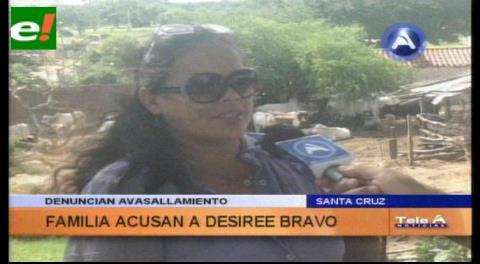 Familia denuncia a Desirée Bravo por loteamiento