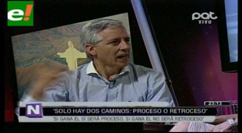 """García Linera: """"En el referendo, pediremos permiso al pueblo para que Evo aparezca en la papeleta electoral del 2019"""""""