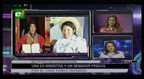Ministra Anticorrupción detalla los procesos que se le sigue a Julia Ramos y Jorge Choque por el caso Fondioc