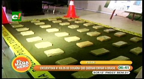 Felcn: Secuestran 41 kilos de droga en el Plan 3.000