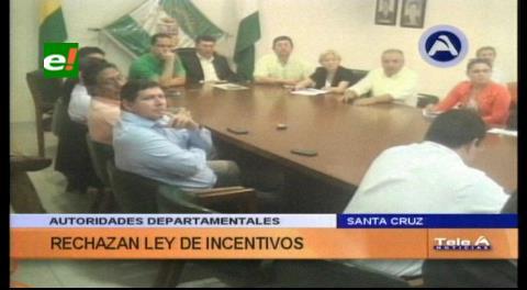 Institucionalidad cruceña rechaza Ley de Incentivo a la exploración de hidrocarburos
